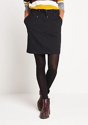 Short business skirt with a dobby pattern from comma