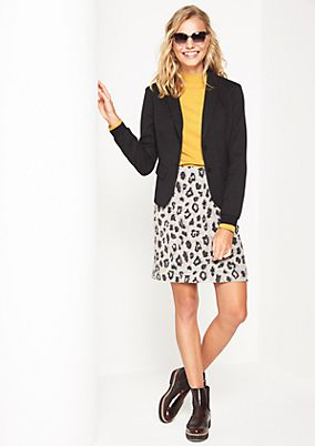 Business skirt with an all-over leopardskin print from comma