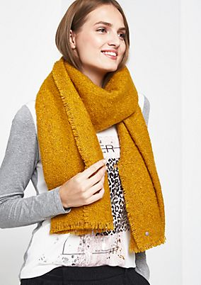 Soft knit scarf with bouclé pattern from comma