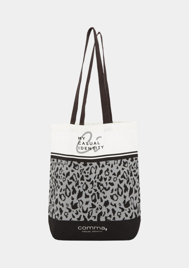 Shopping Bag mit Statement-Print