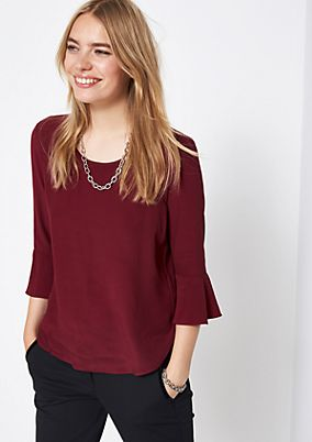Delicate crêpe blouse with a tie from comma