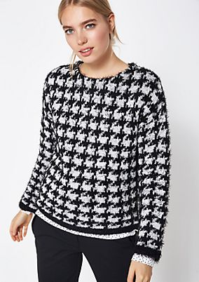 Knit jumper with a fascinating pattern from comma