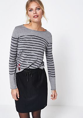 Knit jumper with a vintage stripe pattern from comma