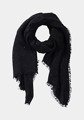 Warm knit scarf with sequin embellishment from comma