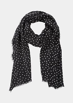 Soft knit scarf with a polka dot pattern from comma