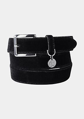 Belt with a velvet finish from comma