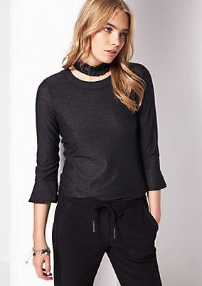 3/4-Arm Shirt aus Glitzergarnen