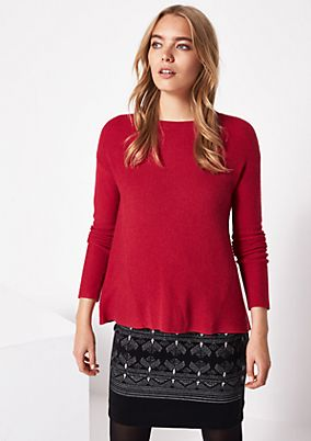 Knitted jumper in a ribbed finish from comma