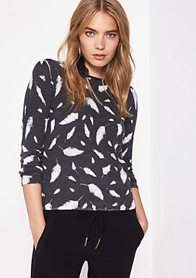 Soft knit jumper with an all-over pattern from comma