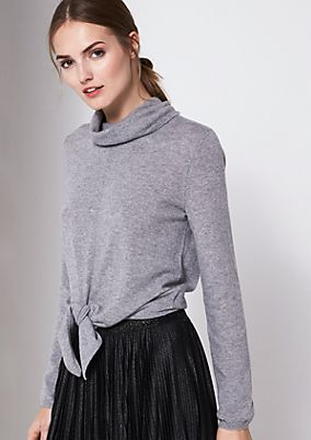 Knit jumper in a poncho look from comma