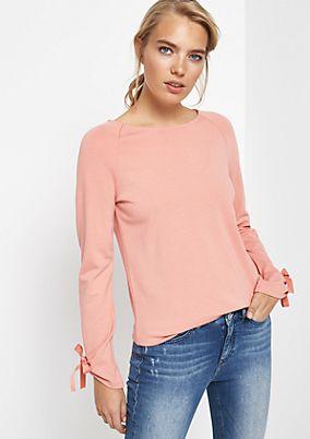 Longsleeve-Sweater mit raffinierten Details