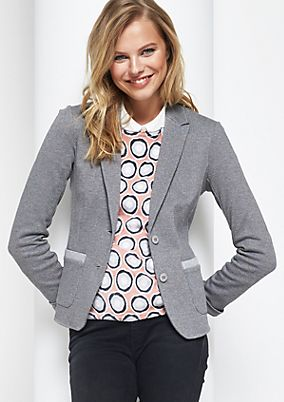 Sporty blazer with a herringbone pattern from comma