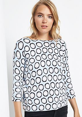 Lightweight knit jumper with an all-over pattern from comma