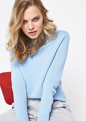 Knit jumper with a ribbed finish from comma