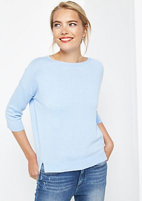 Fine knit jumper with 1/2-length sleeves from comma
