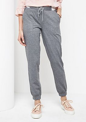 Lounge trousers with pinstripes from comma