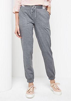 Loungepants mit Nadelstreifen