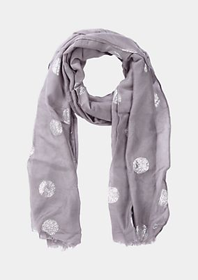 Delicate scarf with a metallic all-over print from comma