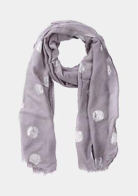 Zarter Schal mit metallischem Alloverprint