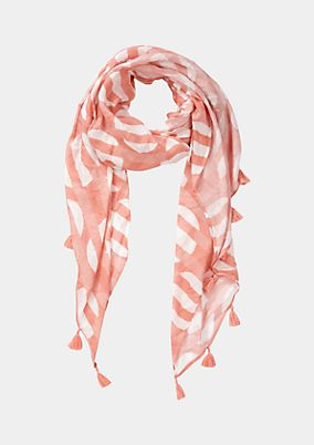 Lightweight scarf with an abstract all-over pattern from comma