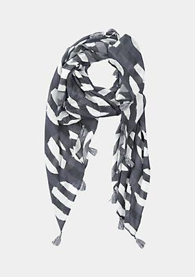Leichter Schal mit abstrakt gehaltenem Allovermuster