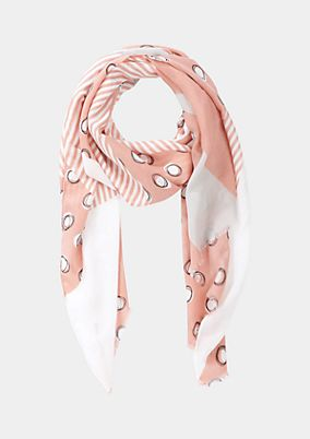 Lightweight scarf with an all-over pattern from comma