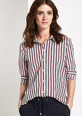Business blouse with a decorative, vertical stripe pattern from comma