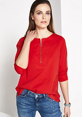 Elegant long sleeve blouse with fine statement embroidery from comma