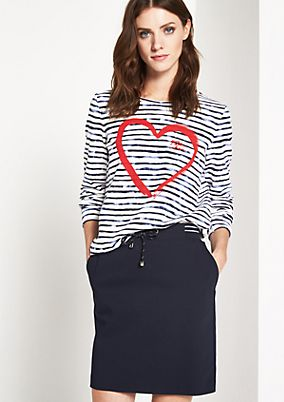 Casual sweatshirt with a striped pattern from comma
