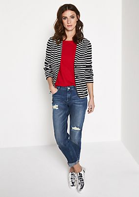 Jersey blazer with sporty stripes from comma