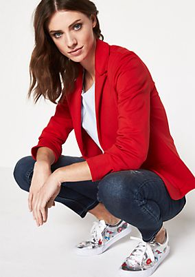 Lightweight blazer with patch pockets from comma