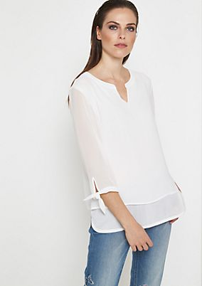 Delicate crêpe blouse in a layered look from comma