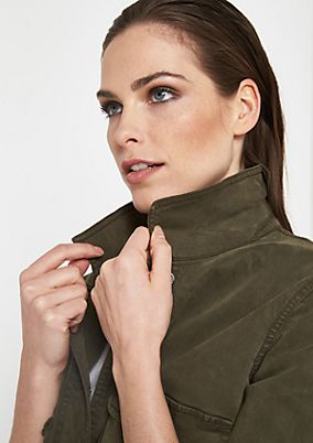 Casual short jacket in an army style from comma