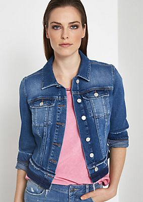 Cropped denim jacket in a vintage look from comma