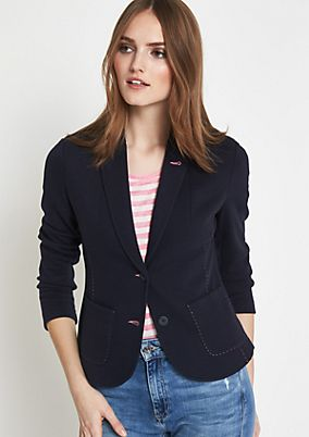 Casual blazer with contrasting colour seams from comma
