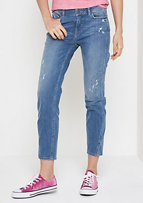 Weiche Jeans im Used-Look