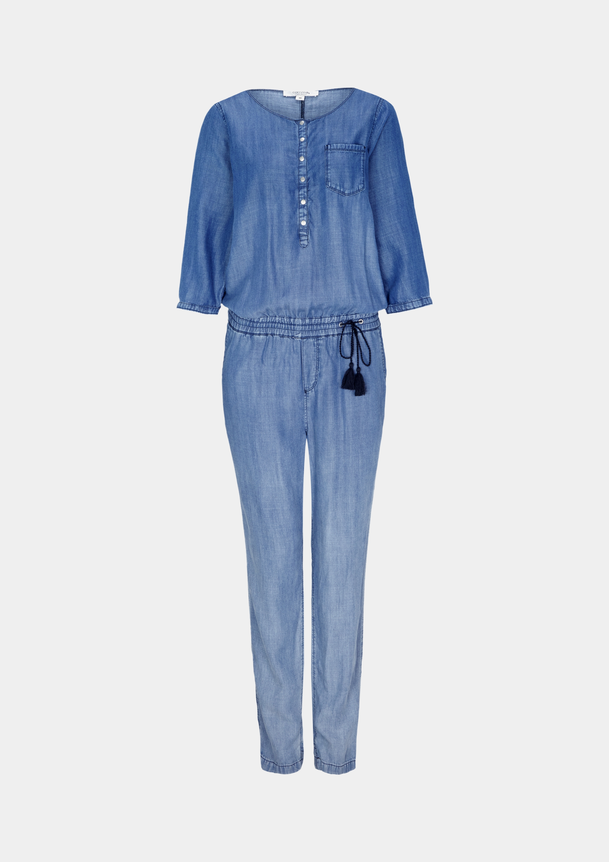 Overall | Bekleidung > Overalls | Blau | 100% lyocell | comma