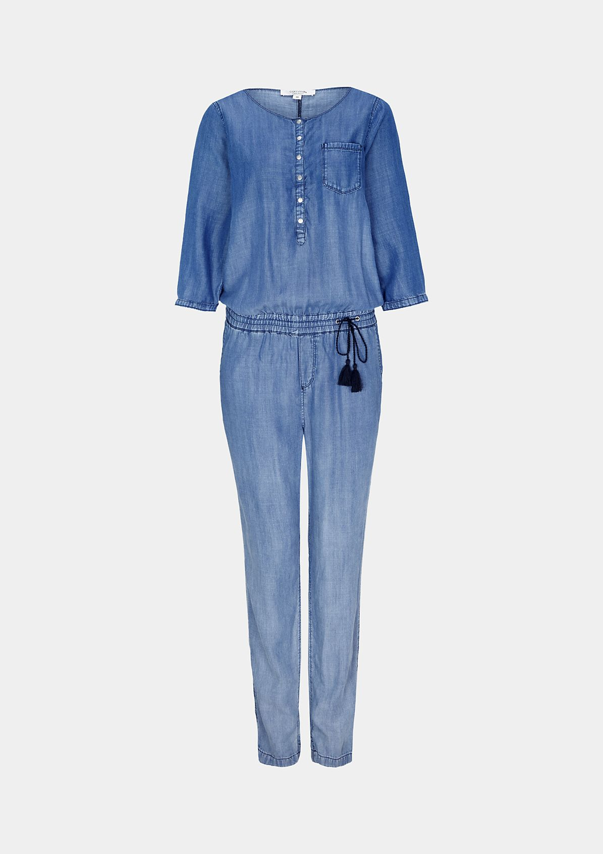 Leichter Jeans-Jumpsuit in Used-Waschung