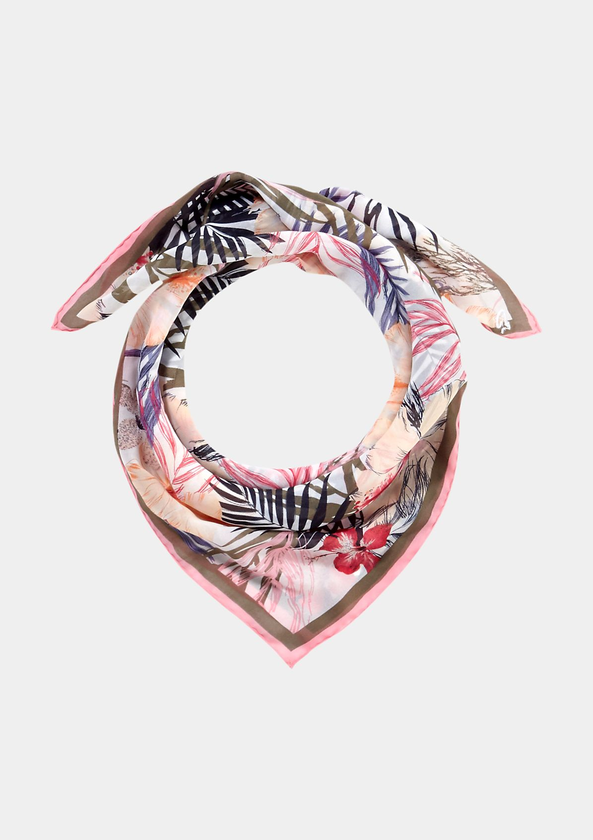 Delicate scarf with an all-over floral pattern from comma