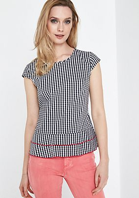 Gingham check blouse from comma