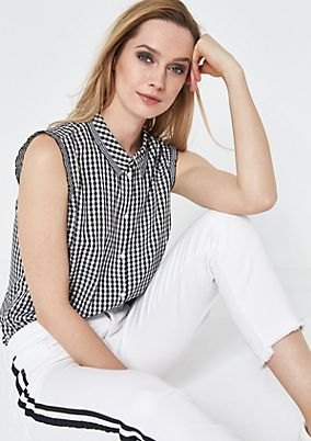 Check blouse top from comma