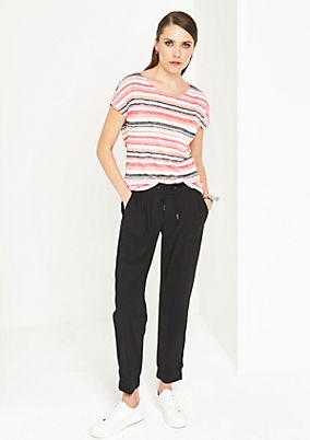Breezy T-shirt with stripes from comma