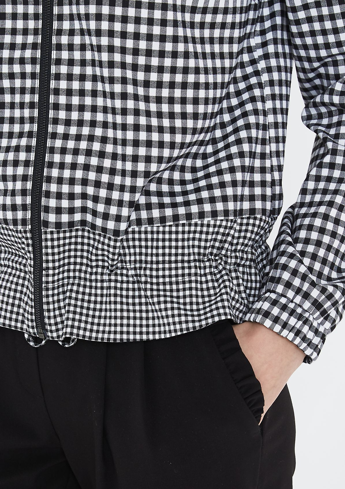 Gingham check bomber jacket from comma