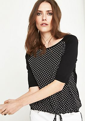 Short sleeve jumper with a polka dot pattern from comma