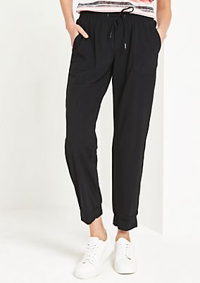 Lightweight lounge trousers with decorative gathering from comma