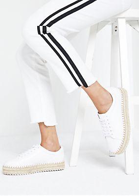 Weiße Jeans mit seitlichen Streifen
