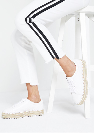 White jeans with side stripes from comma