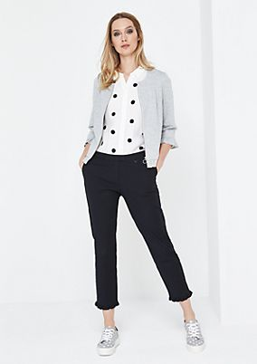 Casual trousers with sophisticated decorative frills from comma