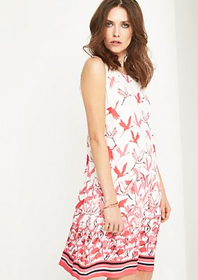 Sleeveless dress made of fine viscose from comma
