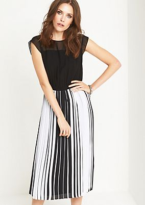 Midi dress with a pleated skirt from comma